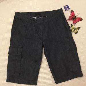 ✅ The Limited Dark Denim Cargo Shorts, Sz 4 NWT